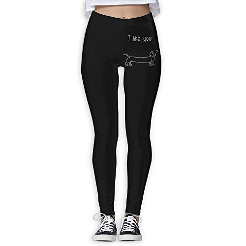 NO2XG I Like Your Weiner - Funny Dog Women's Full-Length Workout Leggings Wire-Free Pants by NO2XG