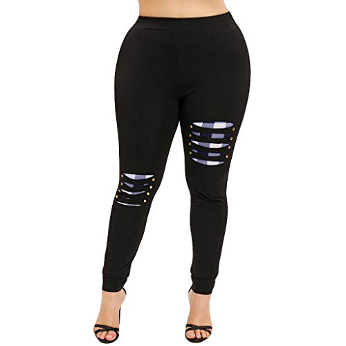 Mid Thigh Workout Shorts for Women, Red Yoga Pants for Women,Women High Waist Yoga Sport Casual Pants Plus Size Willow Spike Leggings Pants by PLENTOP (Image #4)