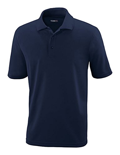 Ash City Core 365 Men's Performance Pique Polo Shirt, Classic Navy 849, (Ash Pique Polo)