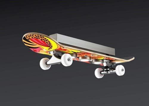 Evotec EASY CRUISER LED Skateboard - Deckenleuchte 7-flg. / 2700K / 15W / 1515 Lumen/Skateboardlampe, Holz, 15 W, Bunt/Rot/Orange/Gelb, Small