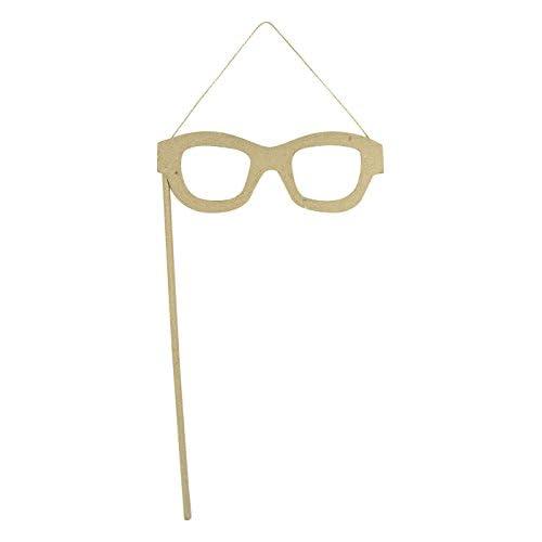 Decopatch Décoration en Papier mâché en forme de lunettes Photo Marron