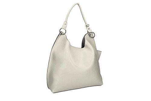 Tasche damen schulter PIERRE CARDIN grau mit offnung zip VN1718