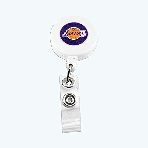 Lo Angeles Lakers Retractable Badge Reel Id Ticket Clip