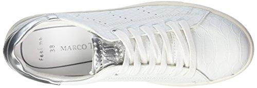 Sneakers Str comb Basses 112 Marco Tozzi Blanc White 23609 Femme Un7qOCp