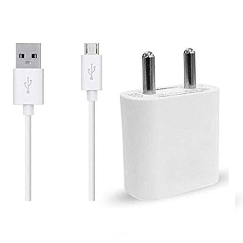 RICHER BRAND 1.5 Amp Single Port USB Charger with 1 Meter Micro USB Cable Compatible with mobiles