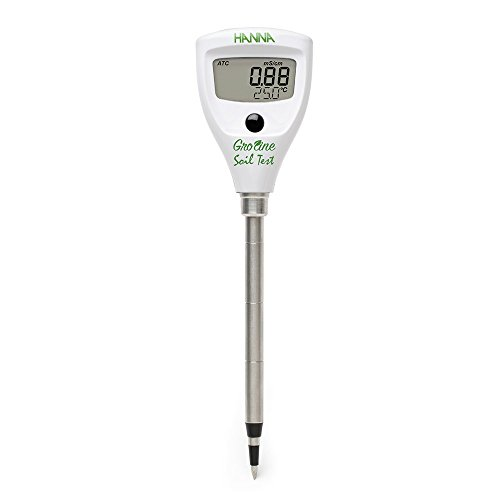 Hanna Instruments HI98331 Soil Test Direct Soil EC Tester, 0.0 to 50.0 Degree C, 0.1 Degree C Resolution, +/-1 Degree C - Soil Ec Meter