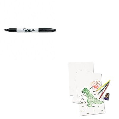 KITPAC4818SAN30001 - Value Kit - Pacon White Drawing Paper (PAC4818) and Sharpie Permanent Marker (SAN30001)