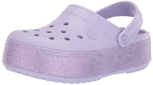 - Crocs Girls' Crocband Platform Clog Lavender Sparkle, 13 M US Little Kid