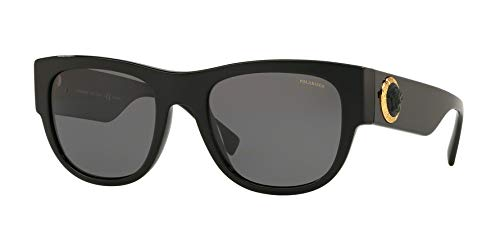 versace Man Sunglasses, Black Lenses Acetate Frame, 55mm by Versace
