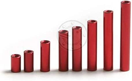 Vehicles-OCS 20pcs M2 x 18mm 19mm 20mm 22mm 24mm 30mm D = 3.5mm Red Aluminum Alloy Standoff//Spacer Stud Fastener Aluminum Column m2 Color: M2x19mm