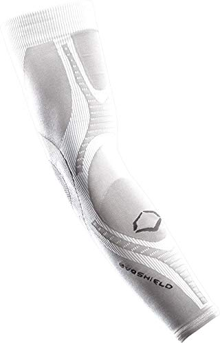 Mlb Sleeveless - EvoShield Active DNA Compression Arm Sleeve, White, Large/X-Large