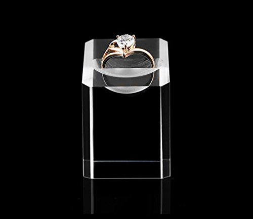 Acrylic Ring Display Stand Holder for Engagement Ring Fine Jewelry Display Store Gallery (Set of 4) by Svea Display (Image #4)