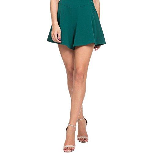 Womens-Voodoo-Vixen-MIRA-Flare-Shorts-Green