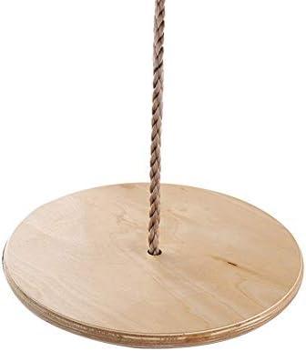 ブランコ 木製の子供ラウンドスイングハンギング席屋内スイングイージーインストール ジャングルジム・ブランコ (色 : Wood, Size : Free Size)