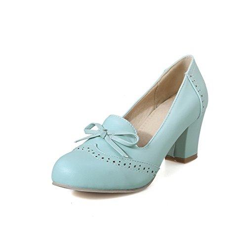 souple fermées pour VogueZone009 par à matériau un rond bout Chaussures femmes IxCOPqw8
