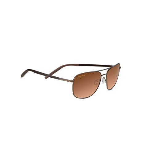 Serengeti Spello Sunglasses, Matte Espresso/Chocolate Brown Frame/Polarized Drivers Gradient Lens