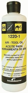 Light Pneumatic Tool Oil - Amflo 1220-1 Light Pneumatic - Air Tool Oil - 16 oz