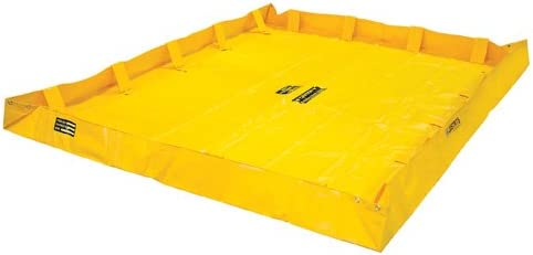 Justrite Manufacturing Company LLC 28568 - QuickBerm Collapsible Berm - PVC coated fabric, Yellow, 96 in Wide, 120 in Long