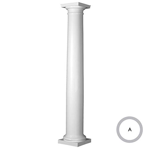 Endura-Stone Round Tapered Column (FRP), Smooth Paint-Grade, Tuscan Capital & Base, 6