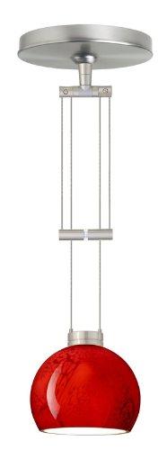Besa Lighting 1XA-5658MA-SN 1X50W Gy6.35 Palla 5 Pendant with Magma Glass, Satin Nickel Finish