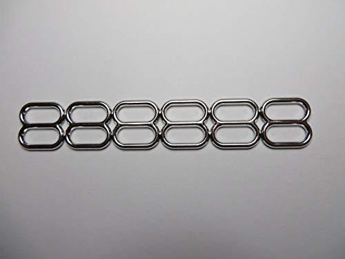 FidgetFidget Wide Mouth Metal Round Webbing Slides (15,25,50) -1/2'' (12.5mm) 25