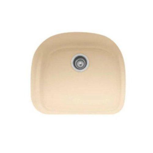 Franke PRK11021BT Prestige 21-Inch Single Bowl Undermount Fireclay Kitchen Sink, Biscuit