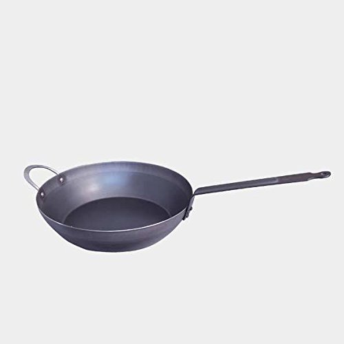 De Buyer Professional 36 cm Blued Iron Force Blue Country Frypan with Riveted Handle 5314.36