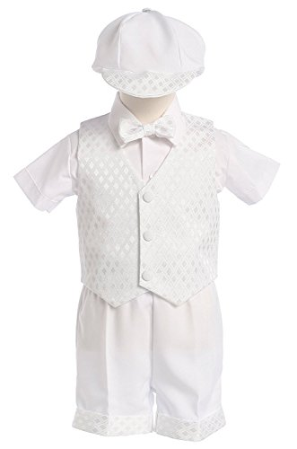 White Diamond Vest and Short Christening or Special