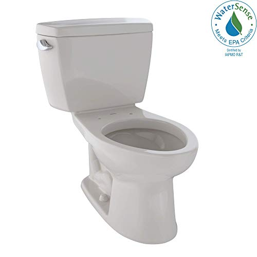 TOTO CST744EL#12 Eco Drake Two-Piece Elongated 1.28 GPF ADA Compliant Toilet, Sedona Beige ()