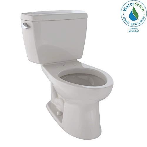 TOTO CST744EL#12 Eco Drake Two-Piece Elongated 1.28 GPF ADA Compliant Toilet, Sedona Beige