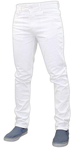G72 Hombres Denim Super Stretch Skinny Slim FIT Jeans Todos LOS TAMAÑOS DE Cintura Y PIERNAS Blanco