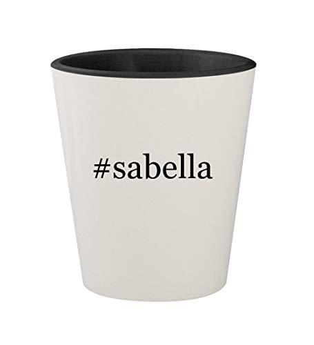 #sabella - Ceramic Hashtag White Outer & Black Inner 1.5oz Shot Glass