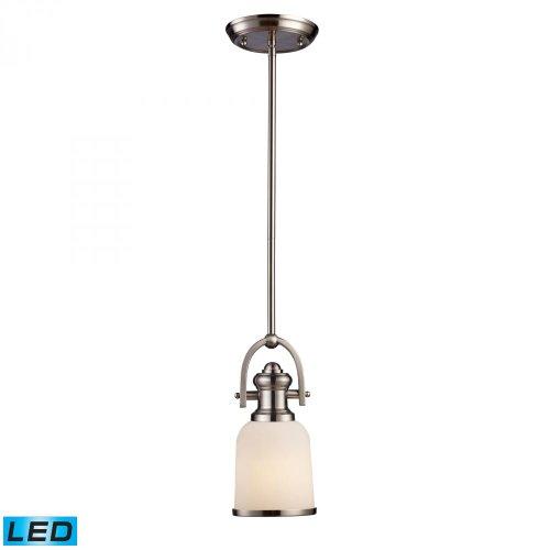 Elk Lighting 66161-1-LED Pendant Light Satin Nickel (For Online Pendants Sale)