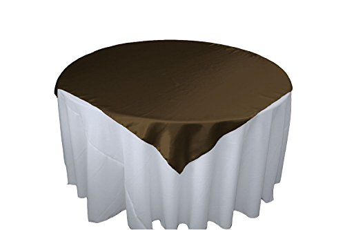 Brown Overlay (LinenTablecloth 60-Inch Square Satin Overlay Chocolate)