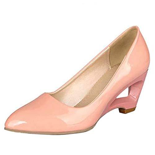 Coolcept Femmes Mode Chaussures 32 Rose Escarpins Pointu Compensé B8BwrqO