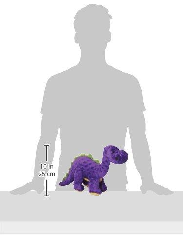 goDog Dinos Bruto with Chew Guard Tough Plush Dog Toy, Purple, Large by goDog (Image #9)