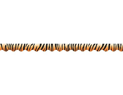Teacher Created Resources Tiger Scalloped Border Trim (4750)