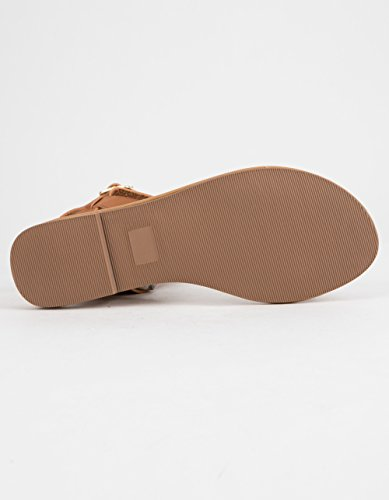 City Classified Basic Ankle Wrap Sandals Tan MzyGIu3nVa