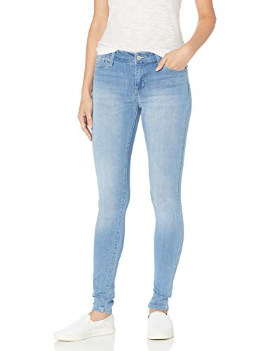 Celebrity Pink Jeans Women's Infinite Stretch Mid Rise Skinny Jean, Outsiders Wash, 9