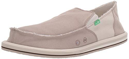 - Sanuk Men's Vagabond Hemp Loafer Flat Natural/White 9 M US