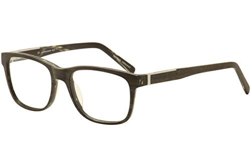 Jaguar Mens Eyeglasses 39110 6471 Brown Wood/Silver Full Rim Optical Frames - Frames Jaguar Eyeglass