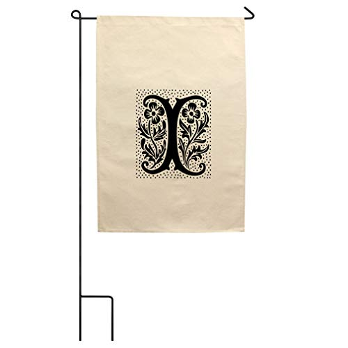 (Style In Print I Wax Seal Initial Monogram Letter I Cotton Canvas Yard House Garden Flag Flag Flag & Pole 18