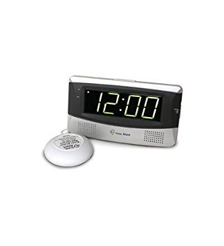Sonic Alert SB300SS Sonic Boom Loud Vibrating Alarm Clock with Large Display by Sonic Alert