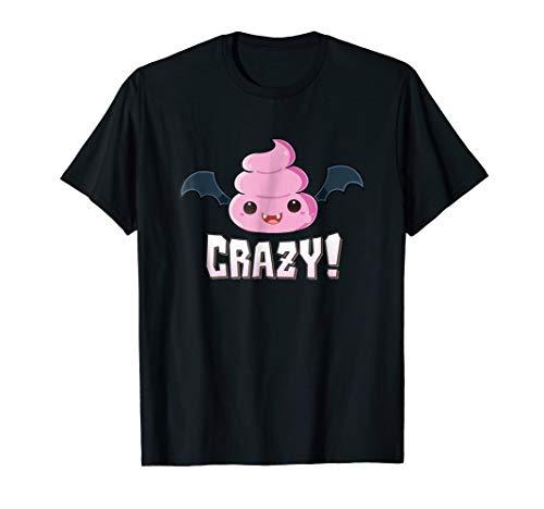 Batshit Crazy T-Shirt Vampire Bat Poo Emoji Halloween Tee -