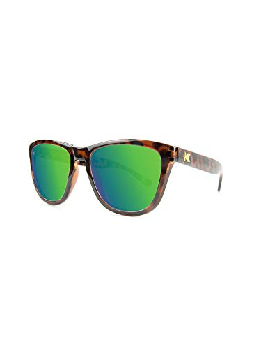 KNOCKAROUND Moonshine Premiums Glossy Polarized Shell Sunglasses Tortoise Green xROv6xqB