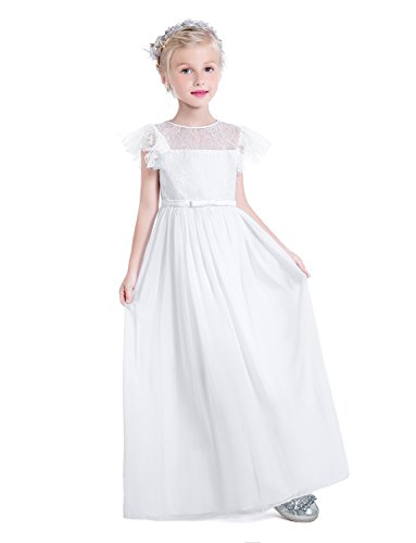d74bdcdfe Castle Flower Girl First Communion Pageant Wedding Lace Birthday Dress 06  White