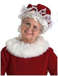 Halco 7951 Mrs. Claus Velvet Mop Hat - Red