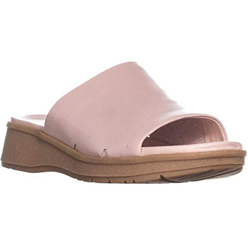BareTraps Womens Rebecca Leather Open Toe Casual Slide, Cameo Rose, Size 6.5 ()