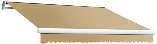 Awntech 14-Feet MAUI EXE Model Right Motor Retractable Awning, 14-Feet Wide by 10-Feet Depth, Tan (Right Motor Retractable Awning)