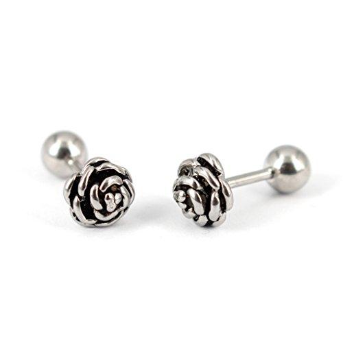 Stainless Steel Rose Flower Stud Earrings for women Bonnie